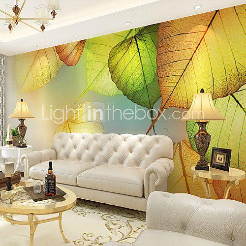Цветочные Ар деко 3D Обои Для дома Современный Облицовка стен , Холст материал Клей требуется фреска , Обои для дома 2017 - $84.99
