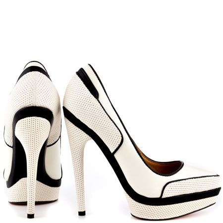 Ohio - White and Black. These would look amazing with a very sharp looking blazer & skirt/pant set.