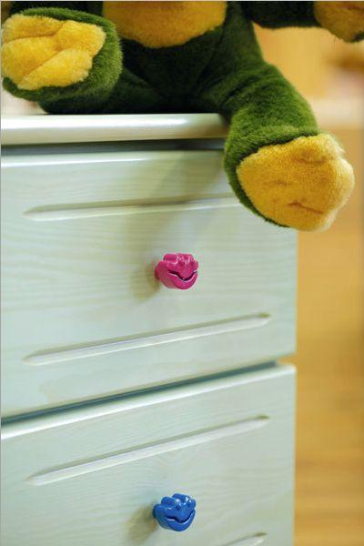 Kolekcja Happy Frogs www.gamet.eu #uchwyt #meble #dzieci #pokoj #dzieciecy #knob #doorknob #child #room #design #fun #frog