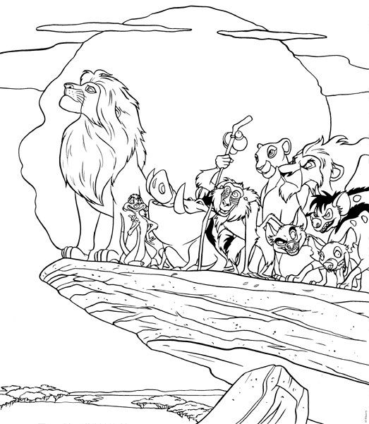 Lion King Pride Rock Coloring Pages Free Lion Coloring Pages Disney Coloring Pages King Coloring Book