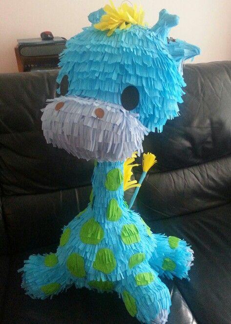 Giraffe piñata I made for a friend's baby shower