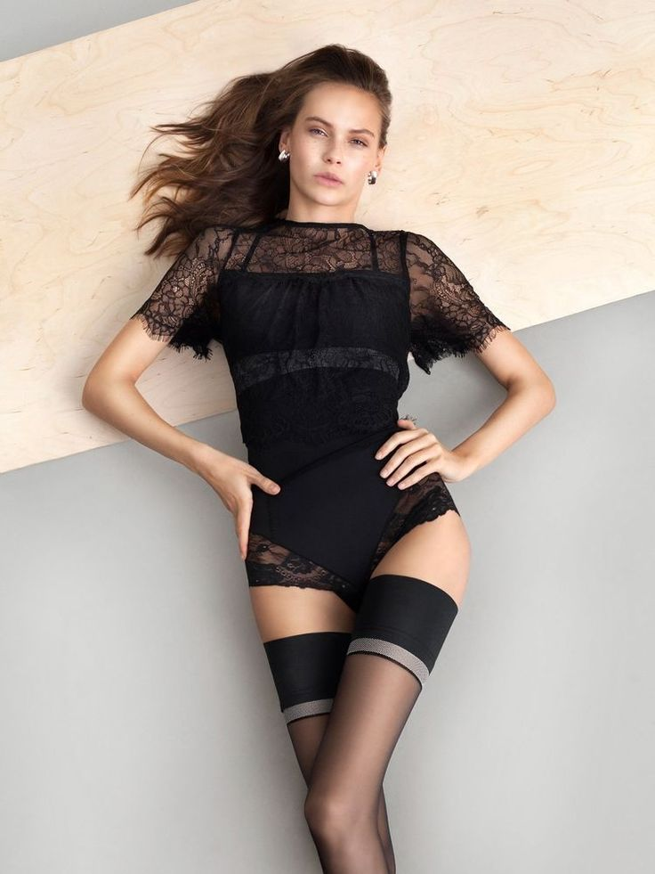 Fiore The Girl DIVINE 20 den Elegant Sheer Hold Ups  - Pończochy samonośne