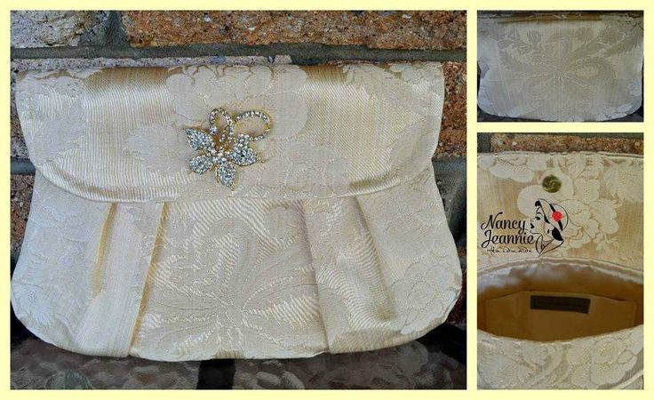 Handcrafted by Nancy Jeannie Handmade Bridal High Tea Clutch in Vintage Brocade