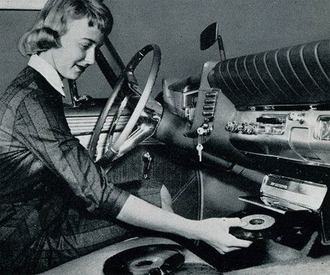 Record player for your car... We had one of these in the '54 Chev Pickup. Bought it at a yard sale.