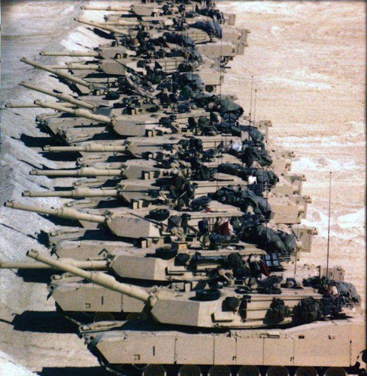 tanks on the berm