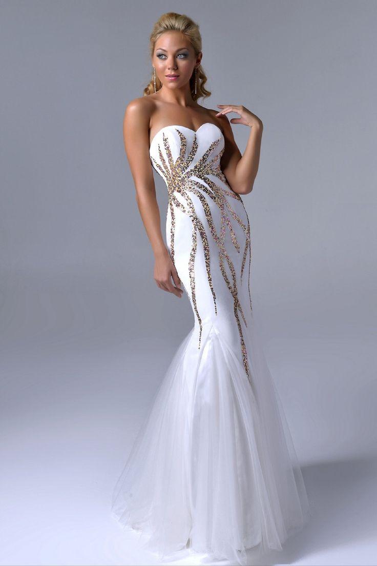 Black and white mermaid prom dress world dresses - Nina Canacci Dress 3011 Beautiful Prom Dresseswhite