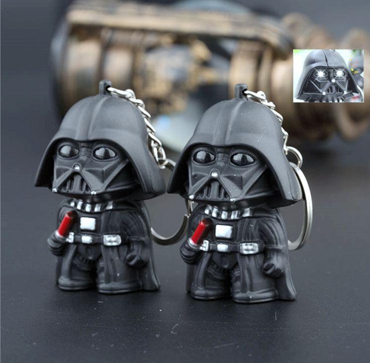 New đến LED Flashlight keychain, Darth Vader star war cơn bão quân BB8 keychain với âm thanh, Các lực lượng đánh thức LED keyring 2 #