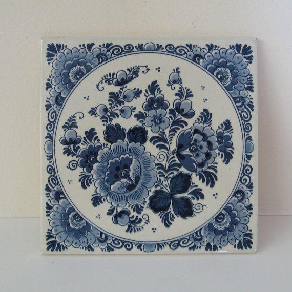 Blue and White Delft Tile