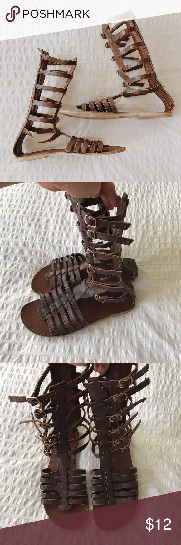 Gladiator Sandals Cute Gladiators from Urban Outfitters. Super cute paired with a black dress in the summer or with shorts! Adjustable straps Urban Outfitters Shoes Sandals