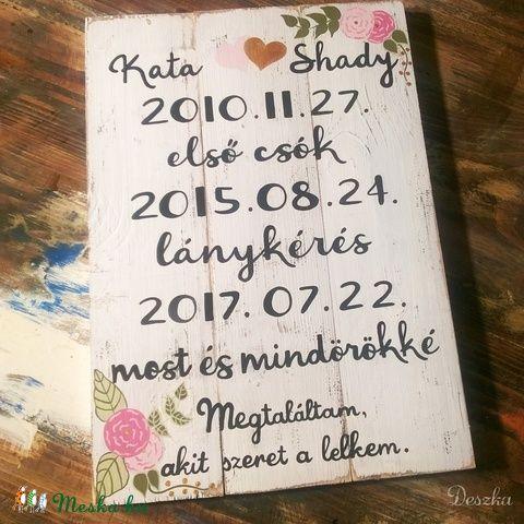 Történetünk - fontos dátumok Deszkára festve (Deszka) - Meska.hu