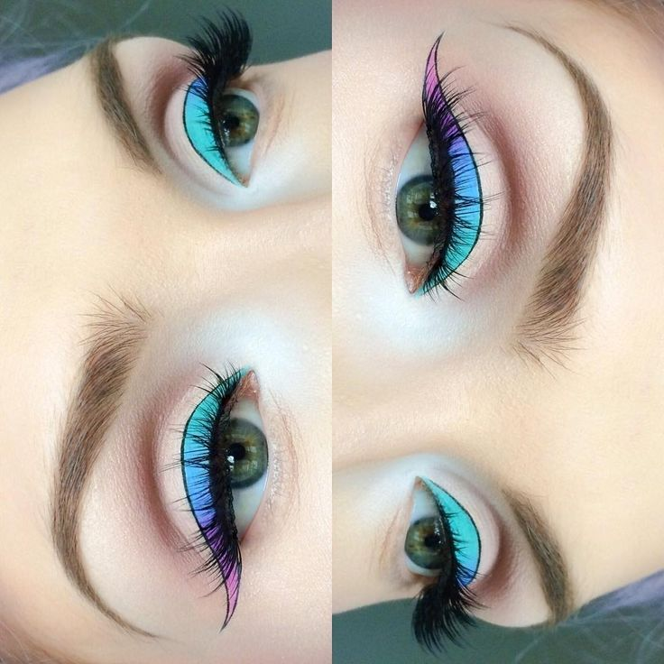 ombre pastel winged liner + graphic black outline | makeup @ beautsoup