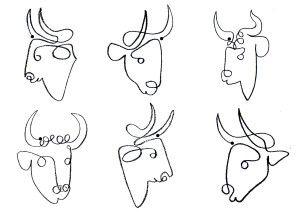 Dans le cadre de mes ateliers à l'école primaire publique de Mouilleron Le Captif avec le cycle 2 ( 8 seances par classe), nous avons réalisé des taureaux en utilisant une démarche inspirée de Pablo Picasso , en 3 étapes : 1- Exercice de dessin en un...