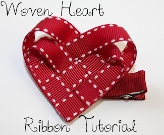 better pic/tutorial...4 separate ribbons glued to a heart backing.