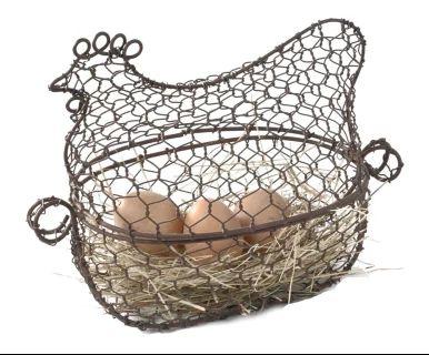Корзинка для яиц - железо - коричневый, 30х23 см