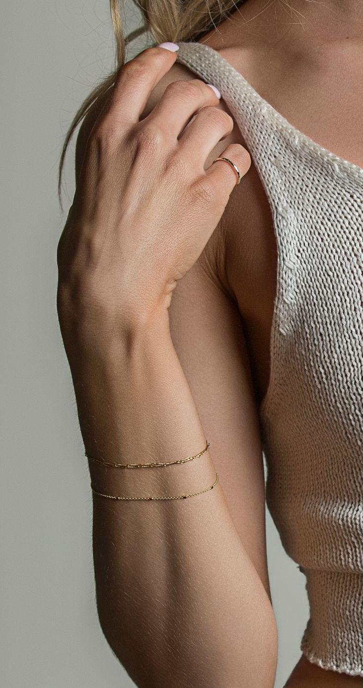 Dainty gold bracelets for the ultimate minimalist