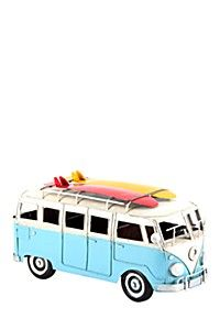 VINTAGE METAL KOMBI WITH SURFBOARD