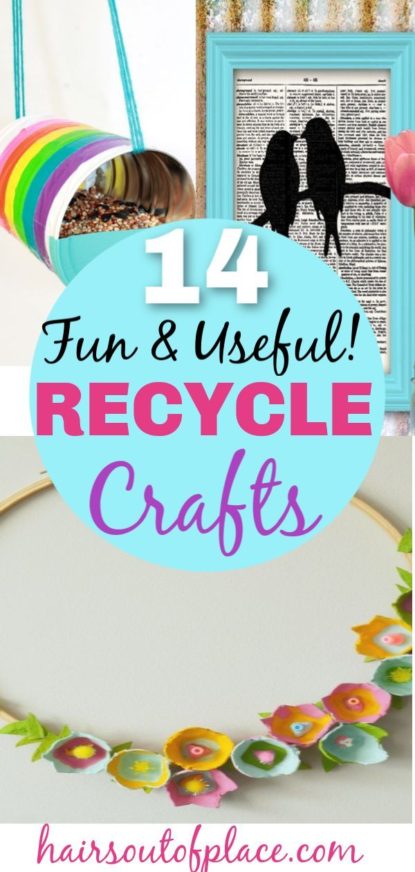 14 Fun And Easy Recycle Art Projects Hairs Out Of Place