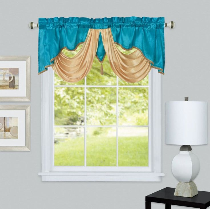 "Window valance. 54 x 18"". Taffeta with soft satin fabric..."