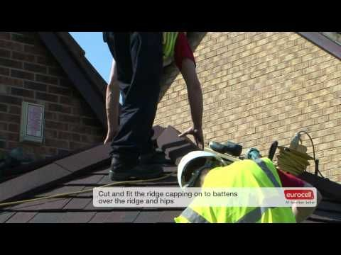 Installing the Eurocell Equinox Tiled Roof System.  http://www.eurocell.co.uk/upvc-trade/162/conservatories-overview-2