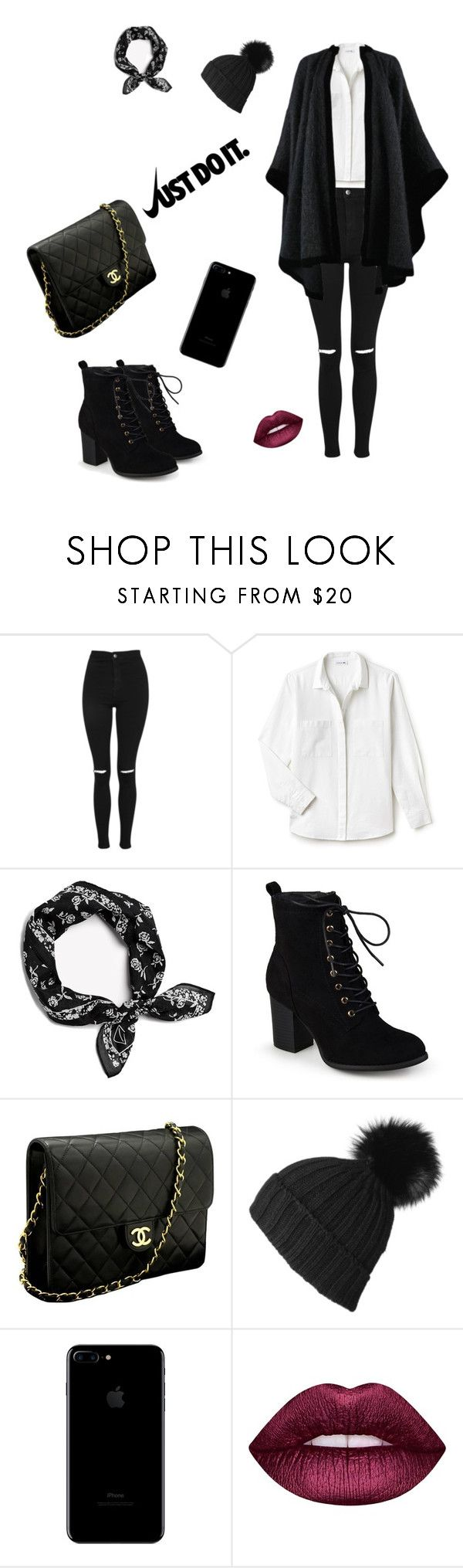 """back to winter"" by fazilebrahimi on Polyvore featuring Topshop, Lacoste, rag & bone, Journee Collection, Chanel, Black, Lime Crime, Yves Saint Laurent, NIKE and outfit"