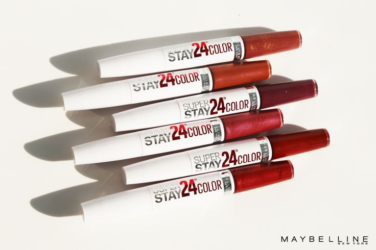 Longwear lipsticks that actually WORK - straight from the drugstore.  Maybelline Super Stay 24 Hour Lip Color is the perfect longwear lipstick that not only gives you 24-hour color but also a comfortable, all day feel.  Available in 30 gorgeous shades!