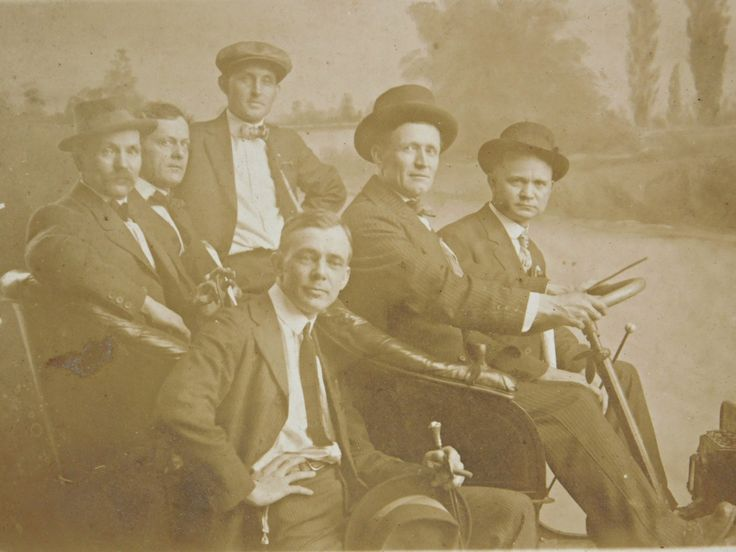 Antique Real Photo Postcard, Group of Men in a Convertible Model T, Circa 1904-1915, Staged Photo, RPPC, Gelatin Silver Print Photograph by LavishMaidenVintage on Etsy