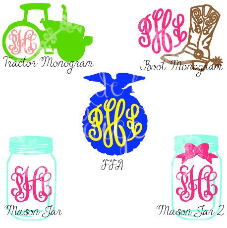 Southern/Country Monogram Decal by MadeByPaigeBoutique on Etsy