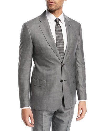 9ff34bb781c Men s Designer Suits at Neiman Marcus. EMPORIO ARMANI WOVEN TWO-PIECE WOOL-SILK  SUIT