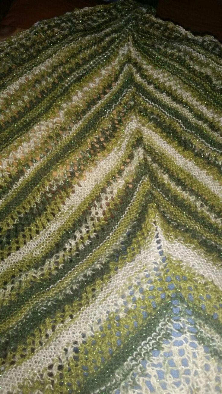 Strikket sjal  #knitting shawl