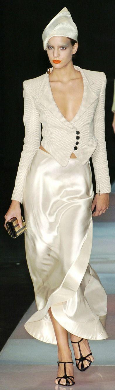 Giorgio Armani at Milan Fashion Week Spring 2005 | Armani