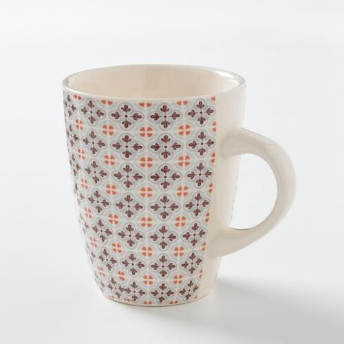 #Confezione da 4 mug motivo piastrella Altro  ad Euro 19.95 in #La redoute interieurs #La redoute arredo arte