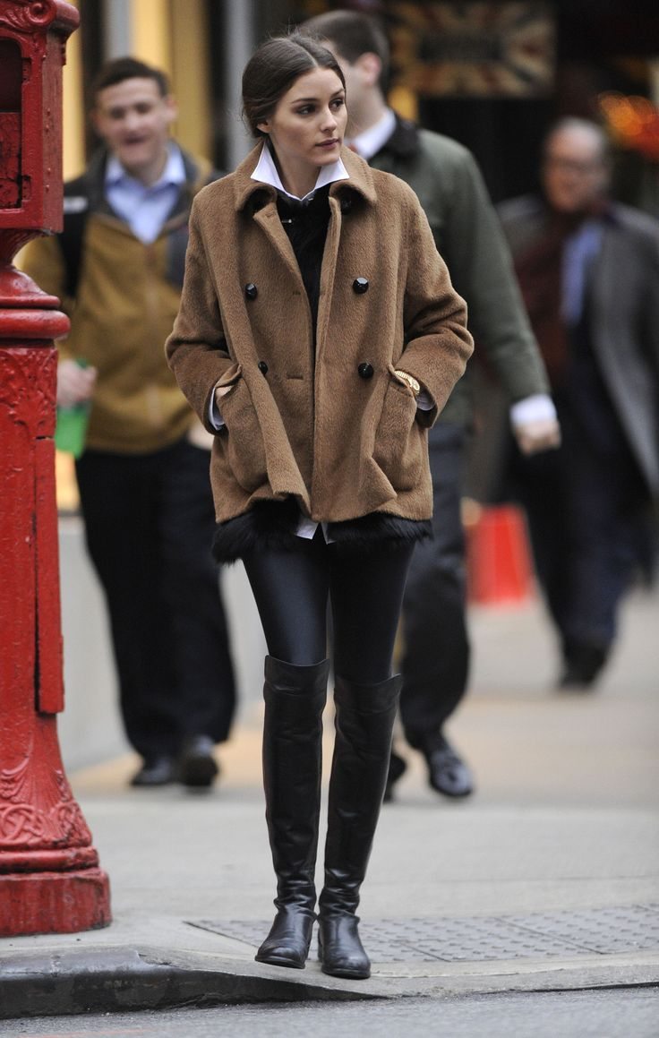 mens sneakers size 15w Olivia Palermo   brown coat