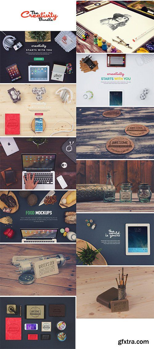 PSD Mock-Ups - Creativity Bundle