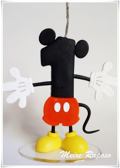 Vela Personalizada Mickey Mouse