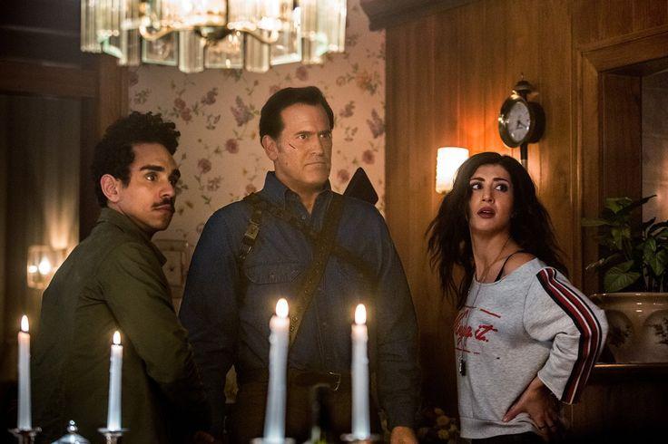 Bruce Campbell, Ray Santiago and Dana DeLorenzo in Ash Vs. Evil Season 1