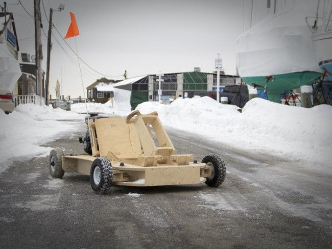 Karting en bois PlyFly Go-Kart - #CARS - Visit the website to see all photos http://www.arkko.fr/karting-en-bois-plyfly-go-kart/