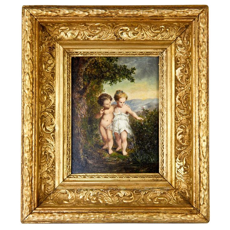 antique french portrait miniature oil painting gesso wood frame miniature antiques and french. Black Bedroom Furniture Sets. Home Design Ideas