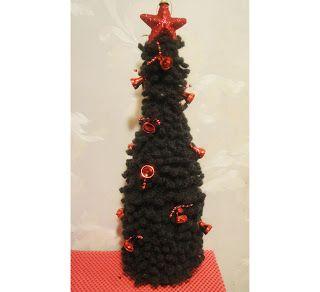 Вязание крючком Crochet : ЁЛКА на бутылку Ч- 2 CHRISTMAS TREE on the bottle ...
