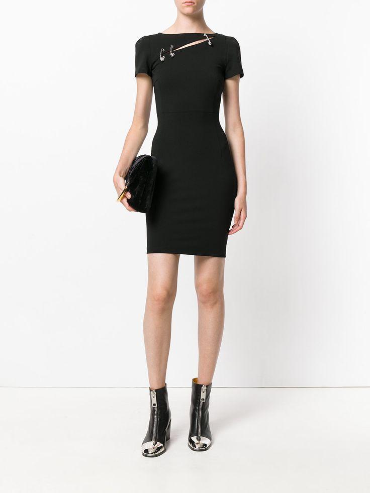 Versus облегающее платье с элементом булавки