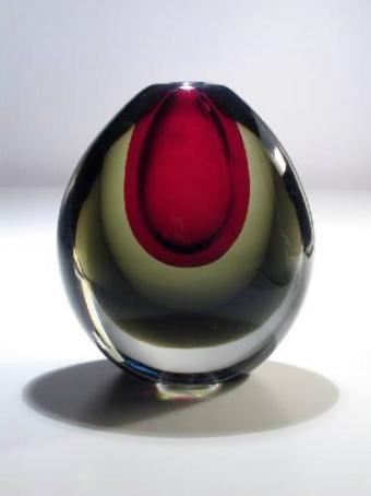 Vase by Kaj Frank, Nuutajärven lasi (1956)