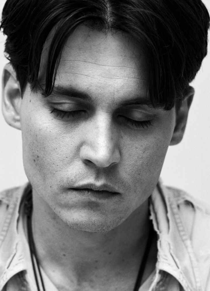 Black and white portraits of hollywood celebs johnny depp