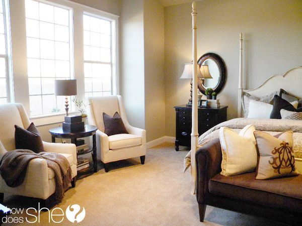 """You don't have to buy """"bedroom sets"""" (or living room sets, etc). Choose furniture pieces that compliment each other but don't necessarily match each other. Paint your side tables a fun color and then repeat that color throughout the room"""