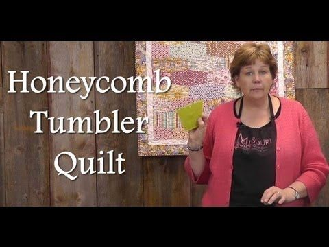 """http://missouriquiltco.com -- Jenny Doan shows a new project to make with the nifty 5"""" Tumbler Template from MSQC, designed for charm packs"""