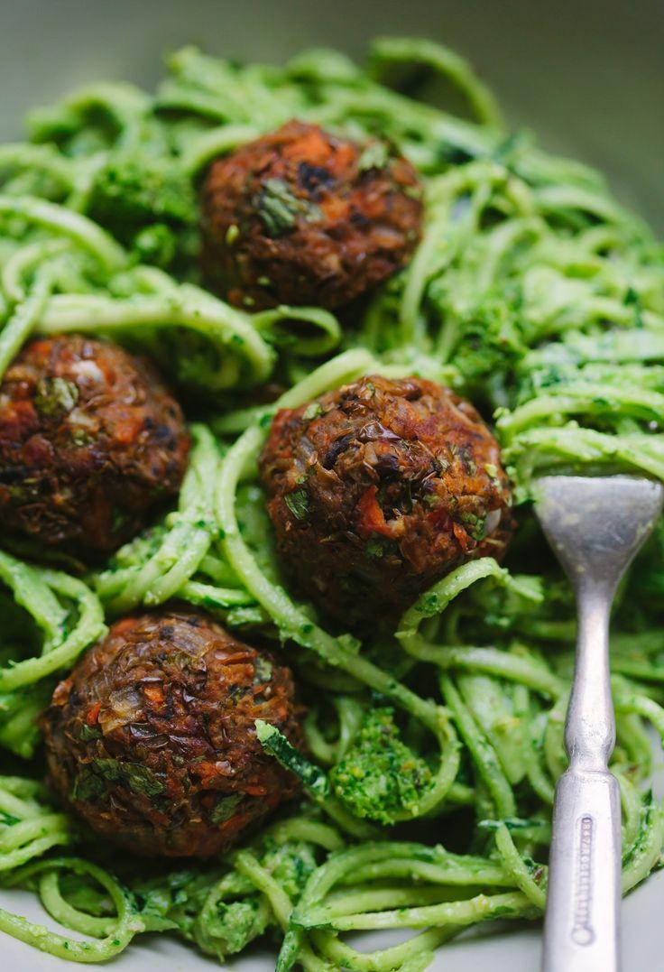 Vegan Gluten-free Italian Style Lentil and Mushroom Meatballs from Pantry to Plate - Golubka Kitchen
