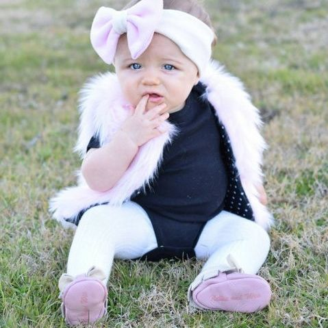 Light Pink Faux Fur Furry Baby Girl Vest