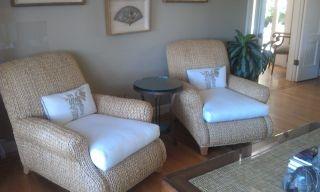Ralph Lauren Sea Grass Chairs (2)...love the two tone idea