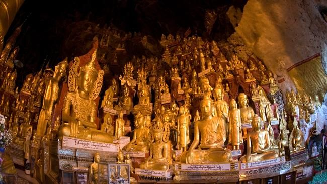 8000 Buddhas inside the Pindaya Caves Shan State, Myanmar