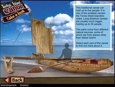 NMA Saibai canoe interactive