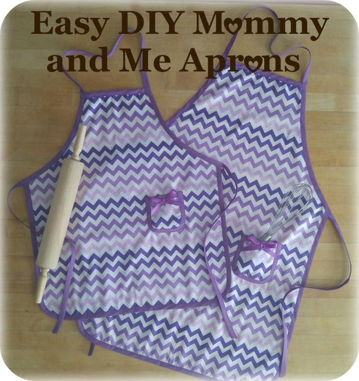 Easy DIY Mommy and Me Aprons -