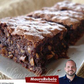 BROWNIE DELICIOSO do Mauro Rebelo - Culinária-Receitas - Mauro Rebelo